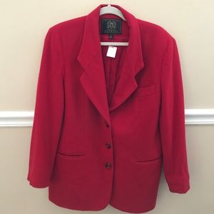 EXPRESS Red Trench Coat 65% Wool Sz M